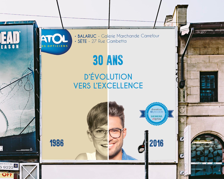 Grande affiche Atol Sète et Balaruc 30 ans