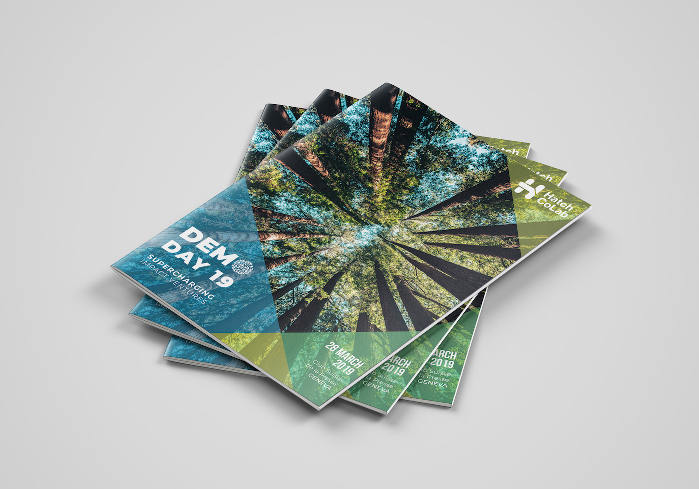 Tas de 3 brochures Hatch Colab