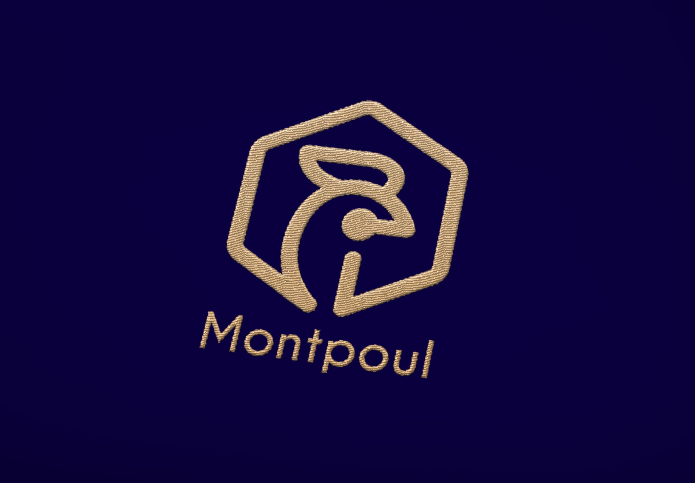 Logo Montpoul brodé